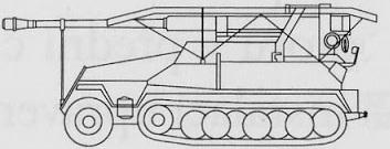 Samohybný Protiletadlový Kanón na Podvozku Hanomag HKL6P